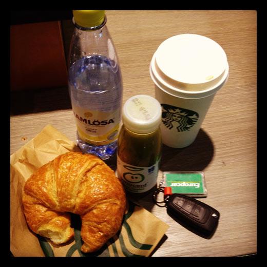Kaffe på Starbucks