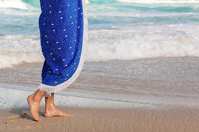 Runda strandhanddukar sommarens heta!