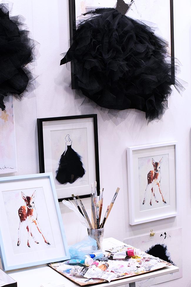 Lisa W Breitholtz svartvita prints med franska namn