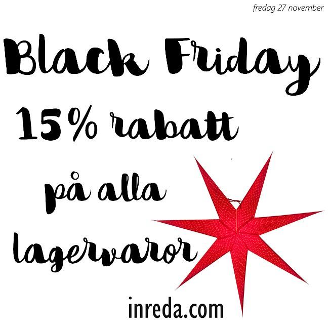 Black Friday 15% rabatt