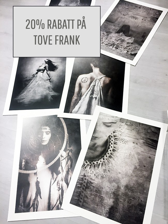 Tove Frank posters 20% nedsatt pris i 4 dagar