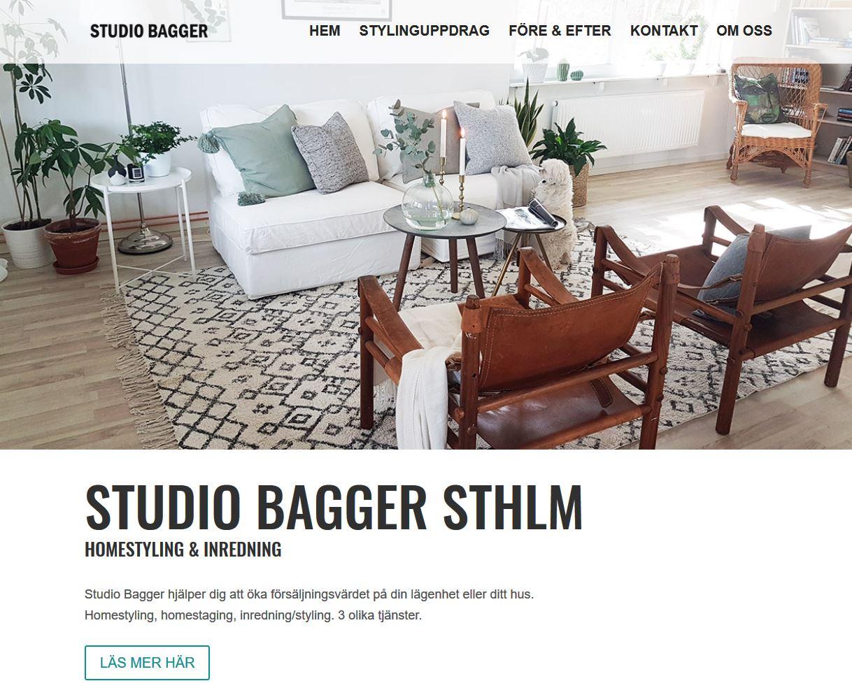 Webbstajling – ny hemsida för Studio Bagger