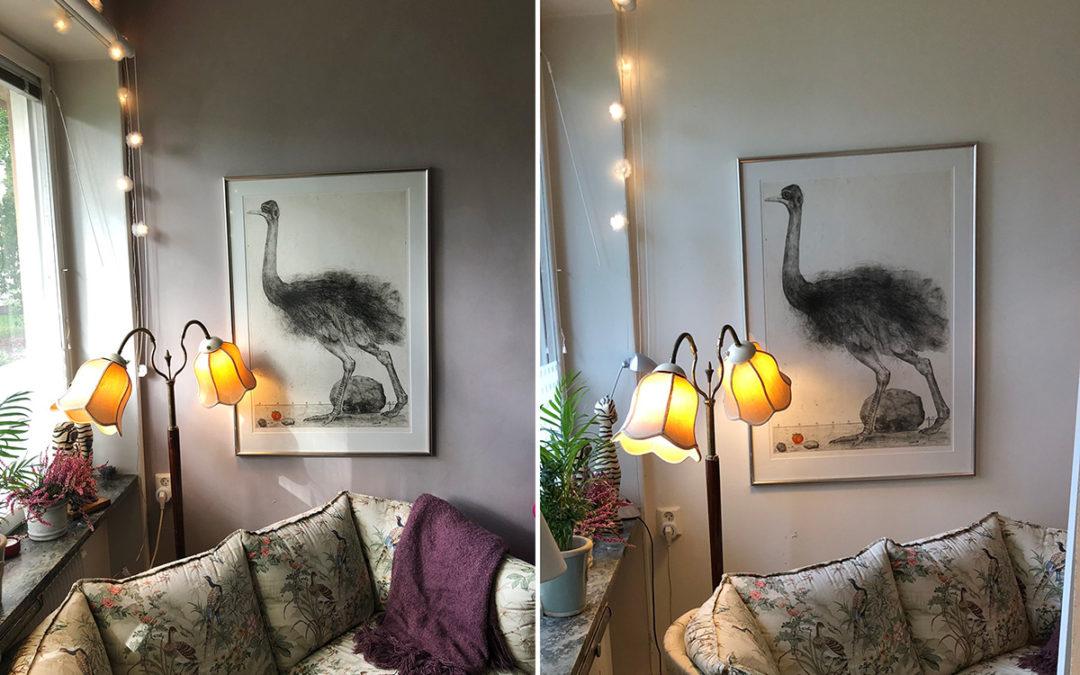 Kalkfärg Simplicity i sovrum, målaruppdrag på Gärdet