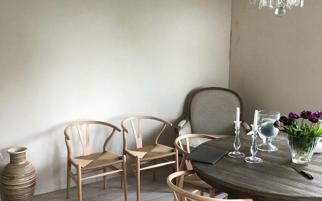 Målaruppdrag: Calce Kalklitir i vardagsrum